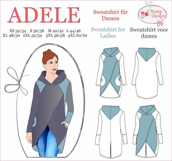 Sweatshirt ADELE E-Book und Näh-Anleitung Schnittmuster Damen | Etsy