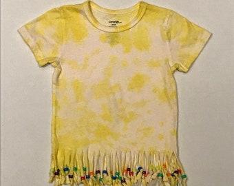 238680d848456 Tie dye fringe shirt   Etsy