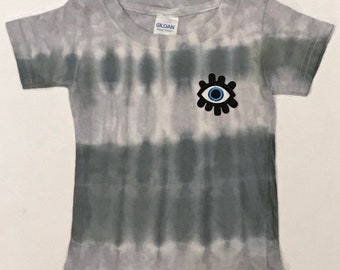 8c0cfdb3a37391 Monotone Stripes Tie Dye Tee Shirt - All knowing evil eye patch not  included - 100% cotton - Toddler 2T - Tie Dye T-Shirt