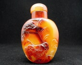 Agate Snuff Bottle Natural Gemstone Jewelry Antique