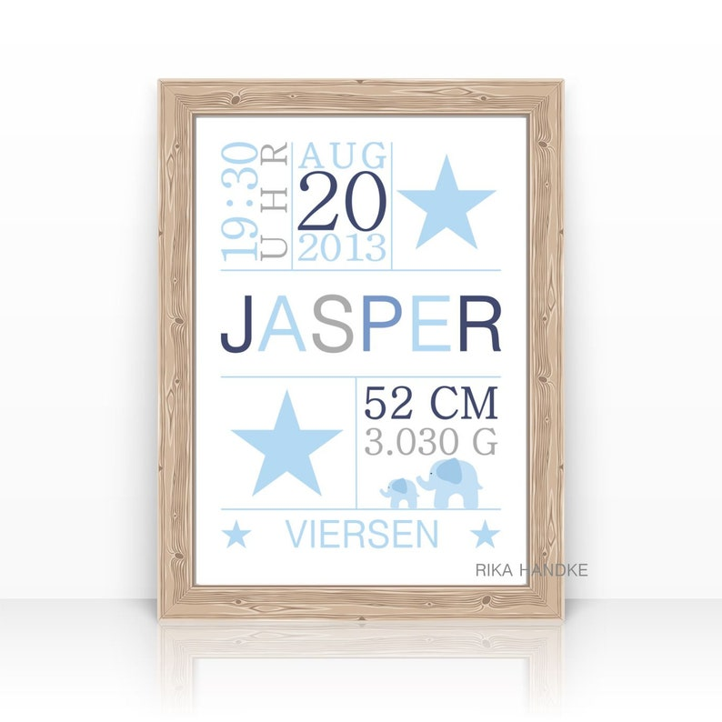 Personalized BABY Gift for Birth to Baptism TAUFGESCHENK Baby image 0