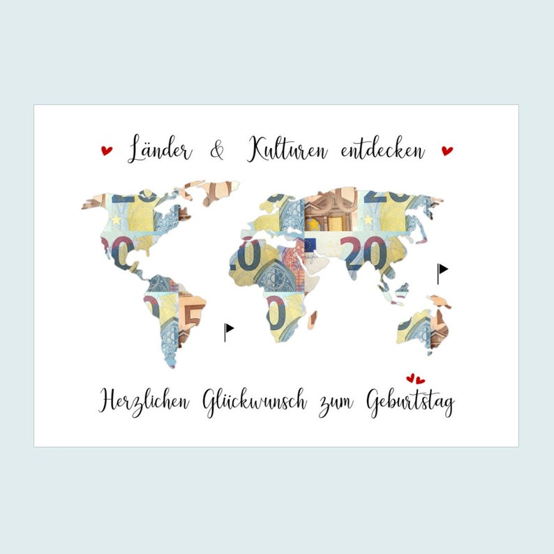 Money Gift for Birthday World Card Birthday Gift Poster image 0