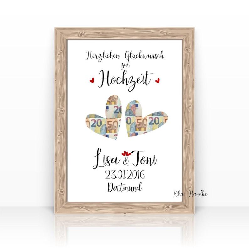 Gift wedding money gift hearts wedding gift personalized gift image 0