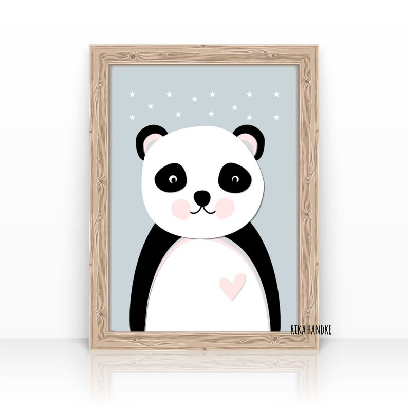 Kids Poster Little Panda Art Print Children's image 0
