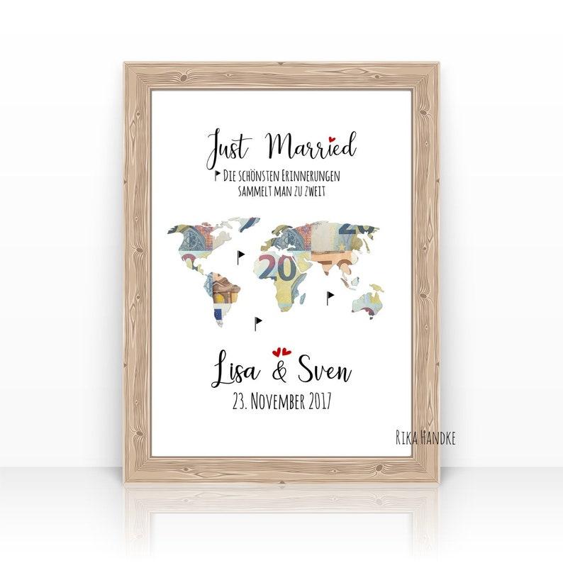 Wedding gift world card / money gift wedding / wedding gift / image 0