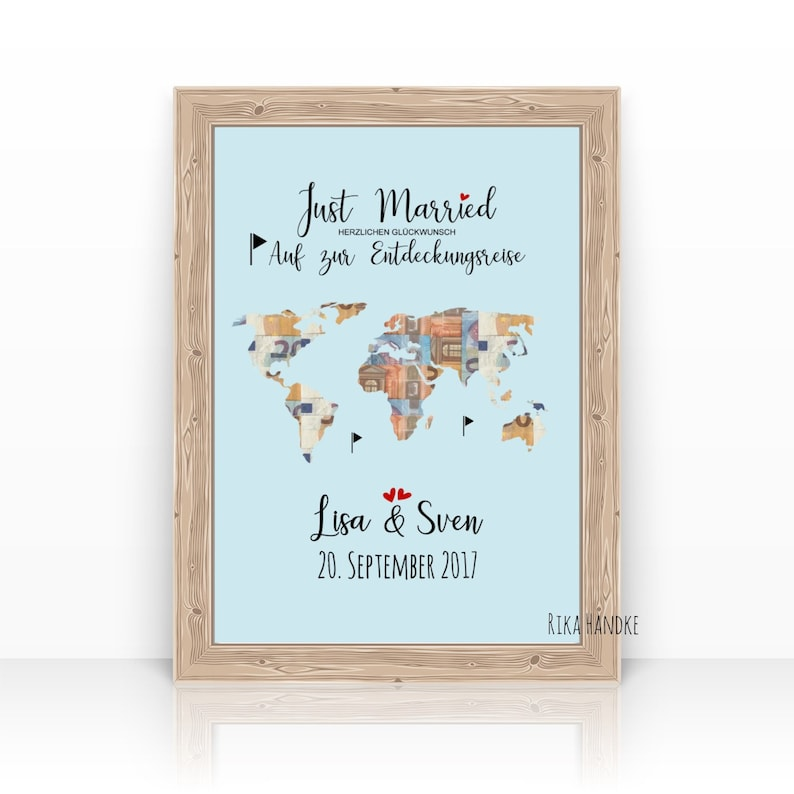 Wedding gift world card / money gift wedding / wedding gift / image 0