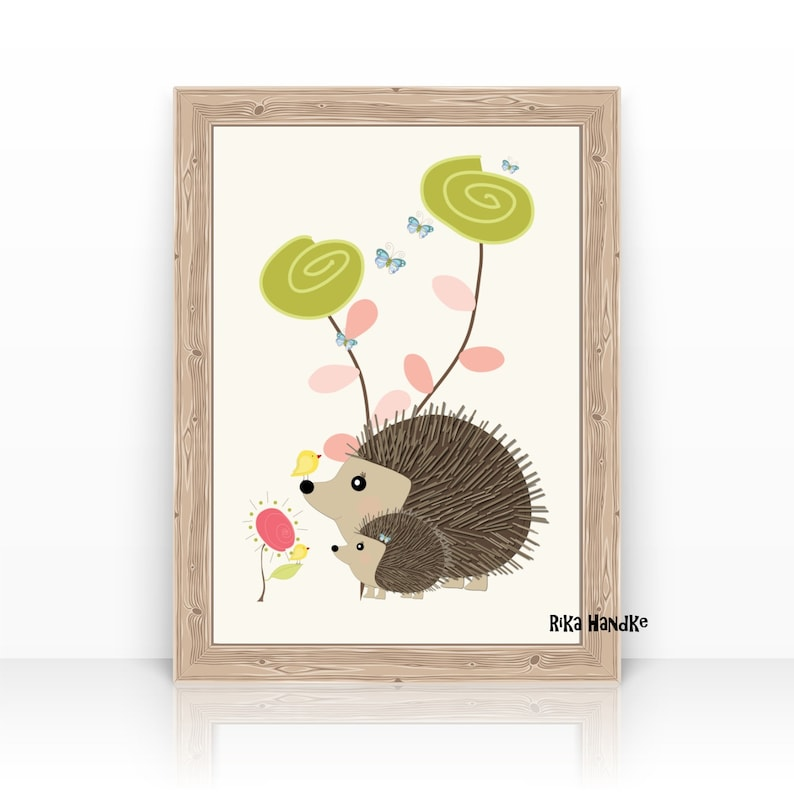 Children's picture  nursery Hedgehog with image 0
