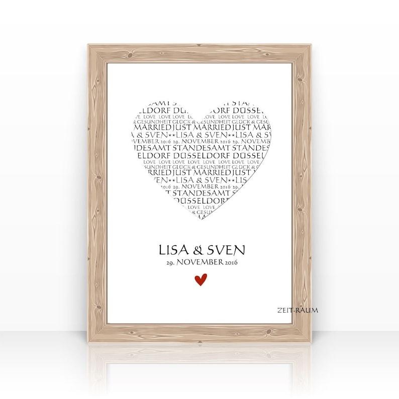 HEART wedding gift personalized wedding gift wedding image 0