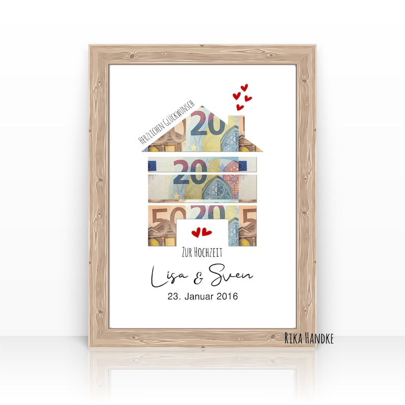 Gift Wedding Money Gift Wedding House House Heart Wedding Gift Haus