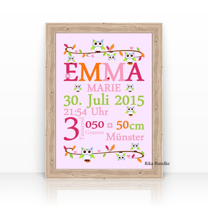 birth announcement baptismal gift name picture child image 0