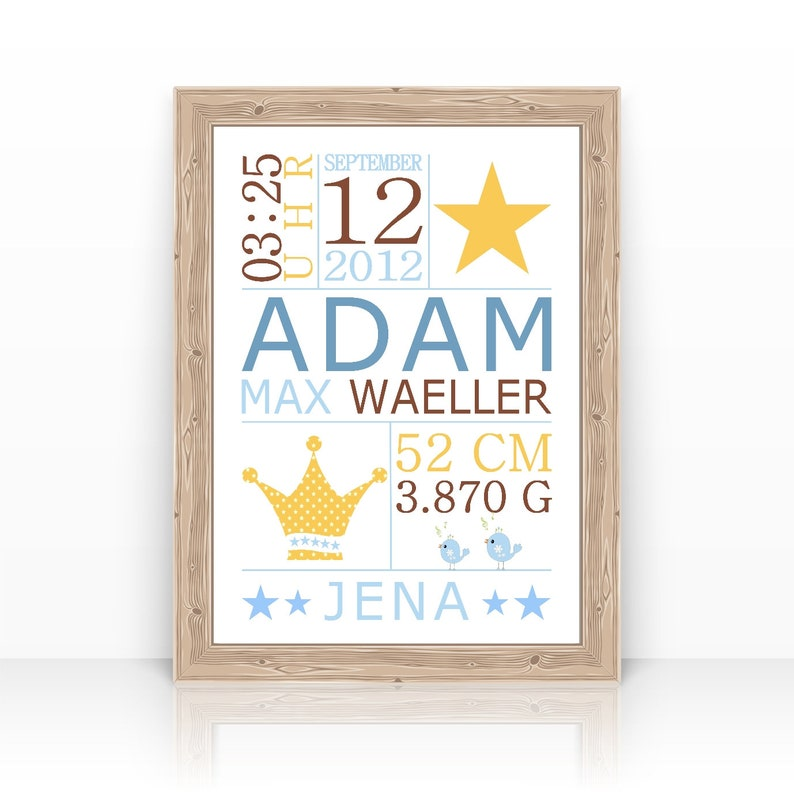 Baby gift BABY gift birth name. Gift Baptism TAUFGESCHENK image 0