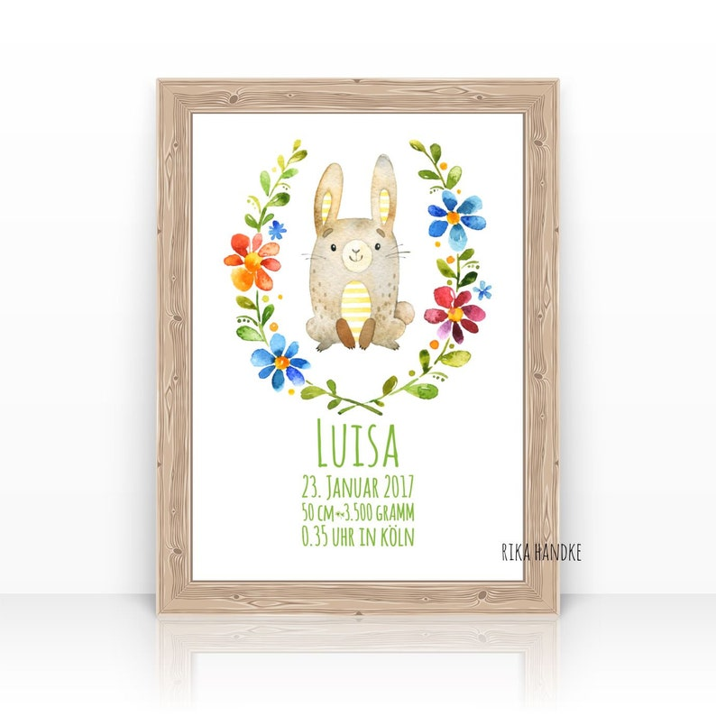 SmallFinePictures Pictures Nursery Bunny  Birth Announcement image 0