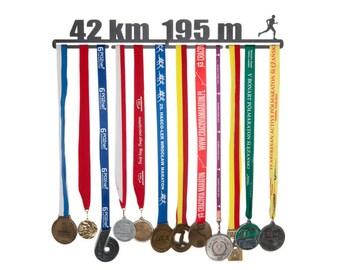 """Medal hanger """"42 km"""" 56 cm for male"""
