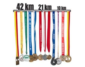 """Medal hanger """"42km 21km 10 km"""" 56 cm"""