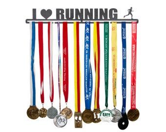 """Medal hanger """"I love running"""" 56 cm for male"""