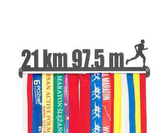 """Medal hanger """"21 km"""" for male 11"""""""