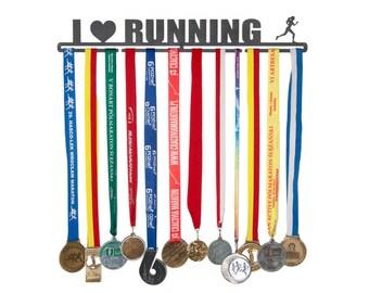 """Medal hanger """"I love running"""" 56 cm for female"""