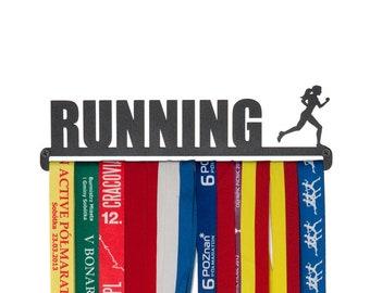 """Medal hanger """"Running"""" for female - 28 cm"""