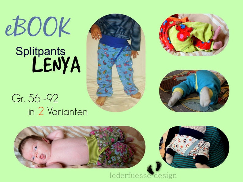 newborn to 4yrs/ split crotch trousers/ sewing pattern and image 0