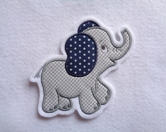 Applikation Elefant Etsy