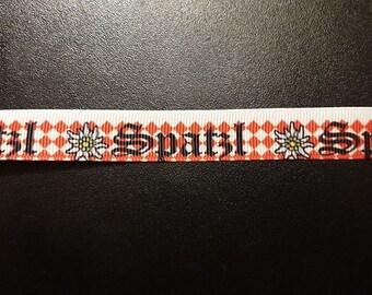 Borte Webband 3961 Edelweiss 22mm Breite Eigenproduktion Ripsband