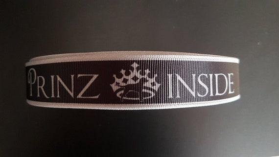 Webband 2475 Prinz Inside auf Gold 22mm Breite Eigenproduktion Ripsband Borte