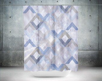 Blue Gray Shower Curtain
