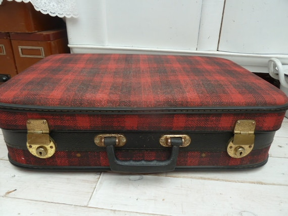 Sixties Suitcase Checkered