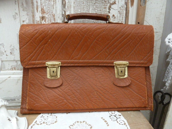 50s leather briefcase