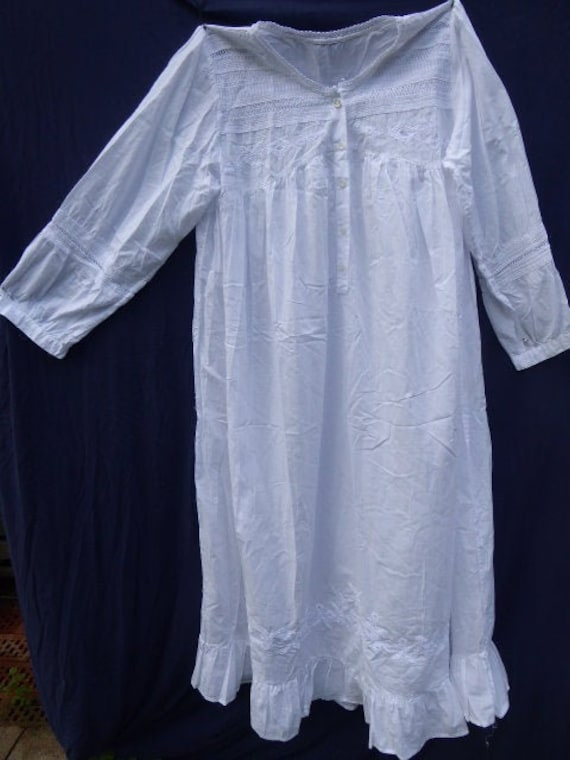 antique long ladies nightgown