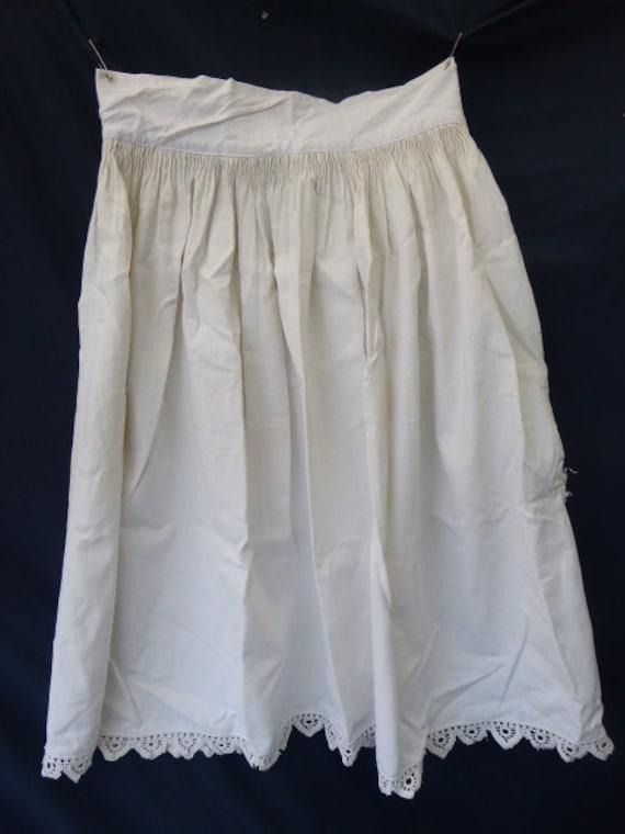 antique linen skirt