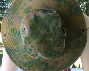 Squaw Valley Summer Sun Hat Cotton Cool Breathable Grey Sacred Geometry  River Lake Beach Travel Painted Blue Green Durable Quality 39cdf56fe91