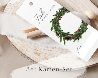Gift tag Christmas in a set of 8