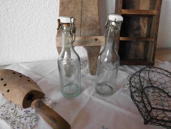 Danemark Shabby Deko Glasflaschen Flasche Antik Etsy