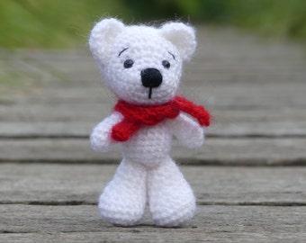 blaumelierte  Mütze und Schal Teddy Bär oder Puppe  handgestrickt beige Bärenbekleidung & Accessoires