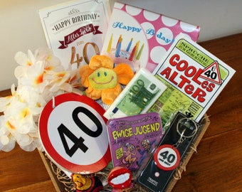 Gift Idea 40 Birthday Basket Woman
