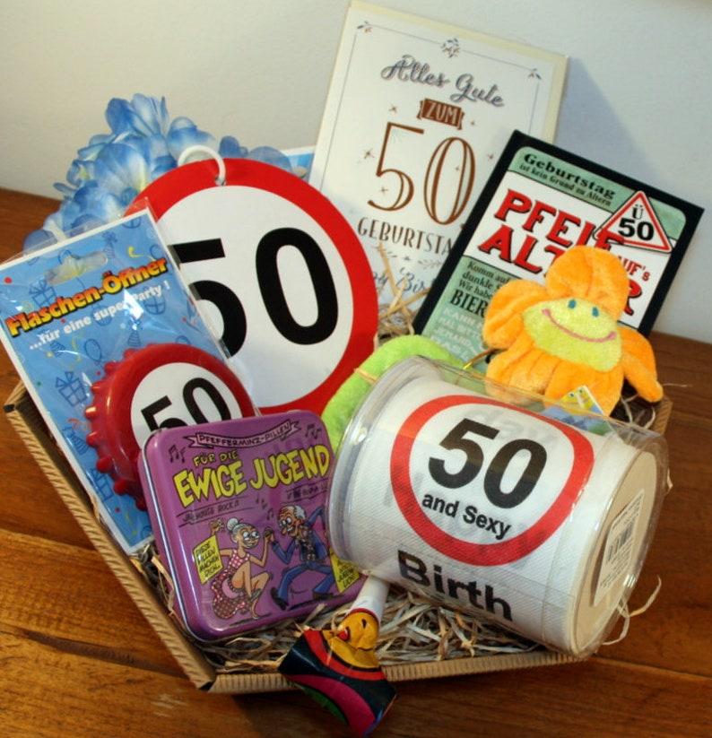 Gift Idea 50 Birthday Basket