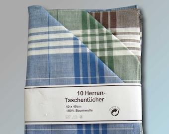 10 Pieces Men's Fabric Handkerchiefs Arabias Work HandkerchiefS Men's Handkerchief Snuff Nastuch 40 x 40 cm