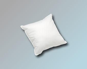 20 x 20 cm Cushion Filling Cushion Sofa Cushion Inner Pillow Feather Pillow Cuddly Pillow 70 g in white white blanc
