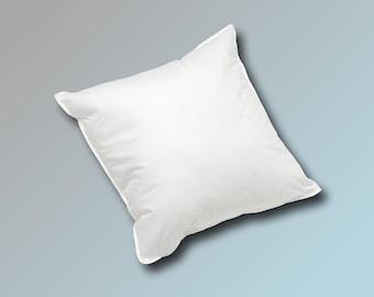 45 x 45 cm Cushion Filling Cushion Sofa Cushion Inner Pillow Feather Pillow Cuddly Pillow 500 g in white white blanc or cream beige