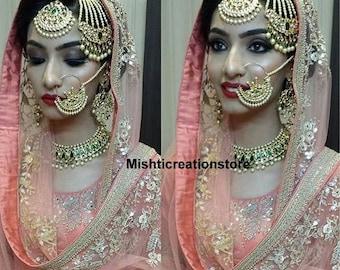Bollywood Kundan Never Less Shine Necklace Earring Etsy