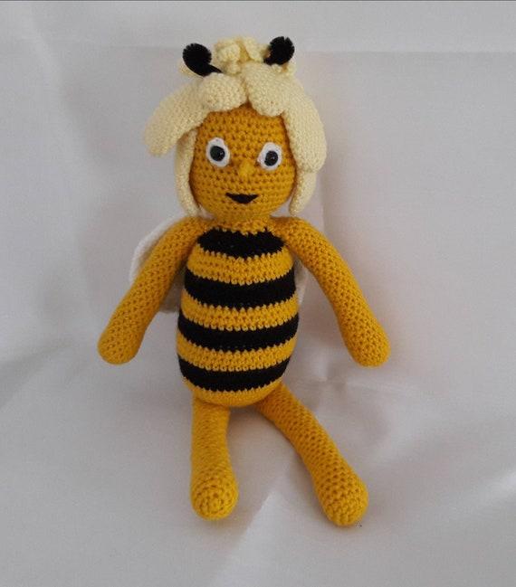 ähnliche Artikel Wie Biene Maja 40 Cm Amigurumi Gehäkelt Kuscheltier