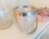Shabby old mini ice cube container wind light silver franske