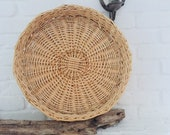 Holland Skandi Huge Decoration Tray Rattan Basket Braid