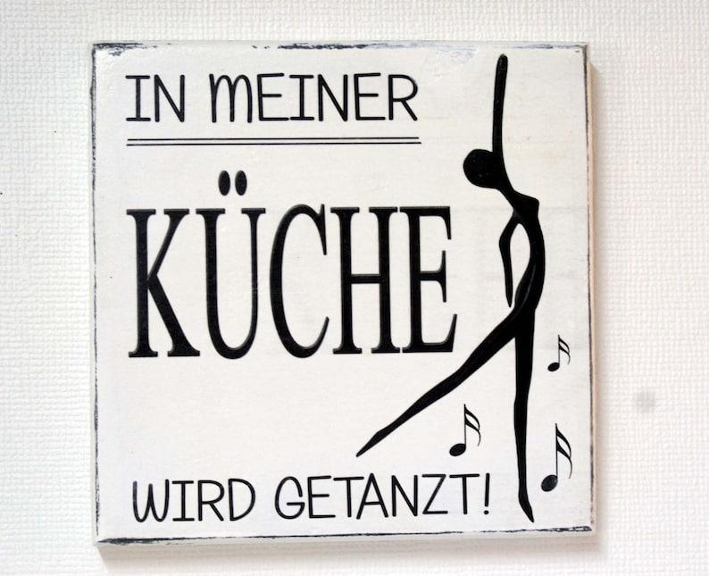 KÜCHE, Holzschild \