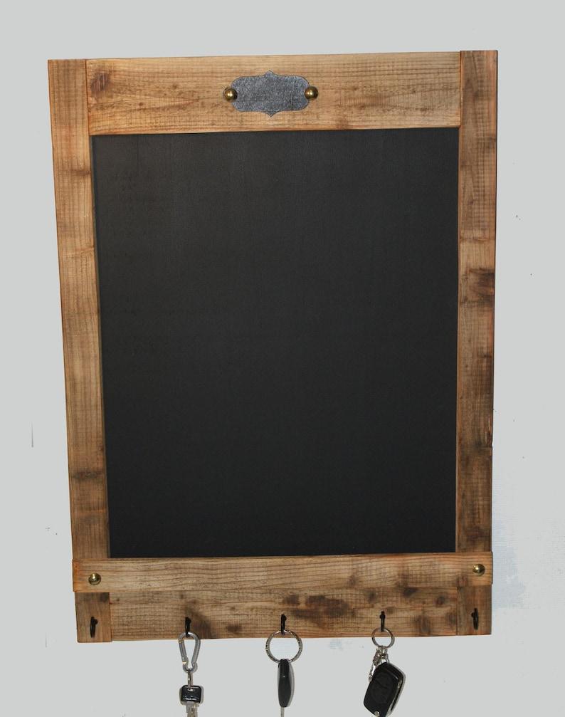 KREIDETAFEL XL, Küche, Schreibtafel, Schlüsselbrett, Tafel, Memoboard mit  Tafel aus Altholz