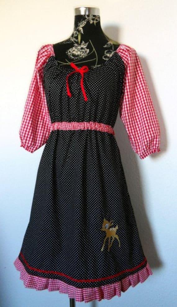 Großhändler Brandneu sehr günstig Reh Tunika Kleid Hänger Applikation Punkte