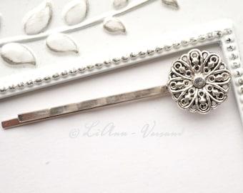 Hairpin - Silver Flower