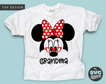 beea1ee2 Grandma Minnie Svg, Disney Grandma Svg, Minnie Mouse Grandmother with  Glasses Svg Nana Shirt Svg Cricut Cut File Silhouette Iron on Transfer