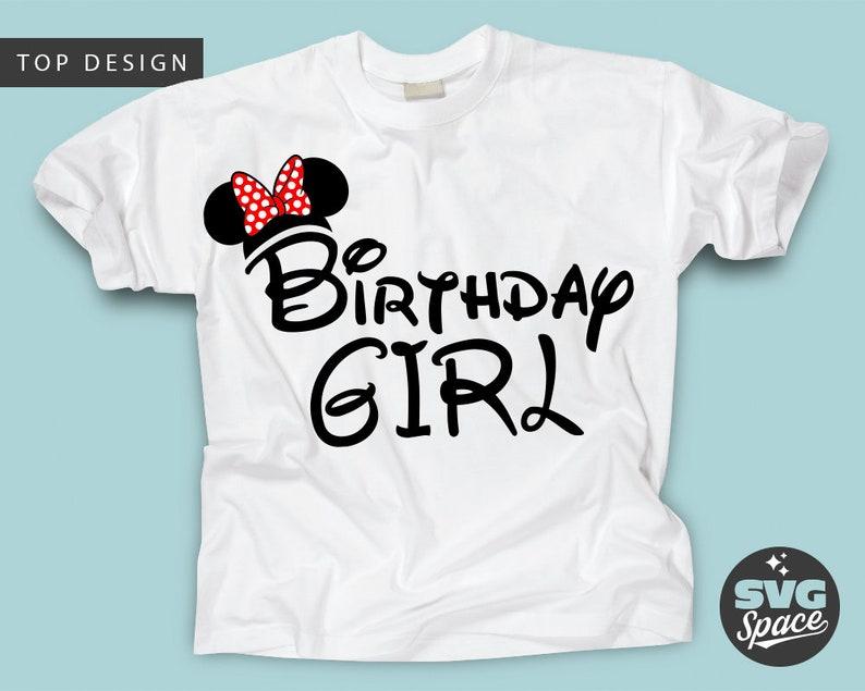 Geburtstag Mädchen Svg Geburtstag Shirt Svg Minnie Ohren Etsy